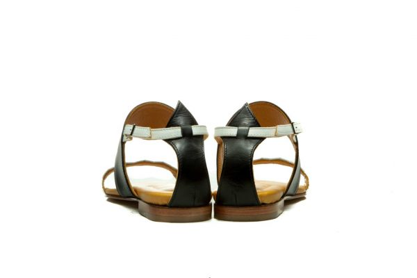 Womens Shoes Flat Black Strappy Sandals