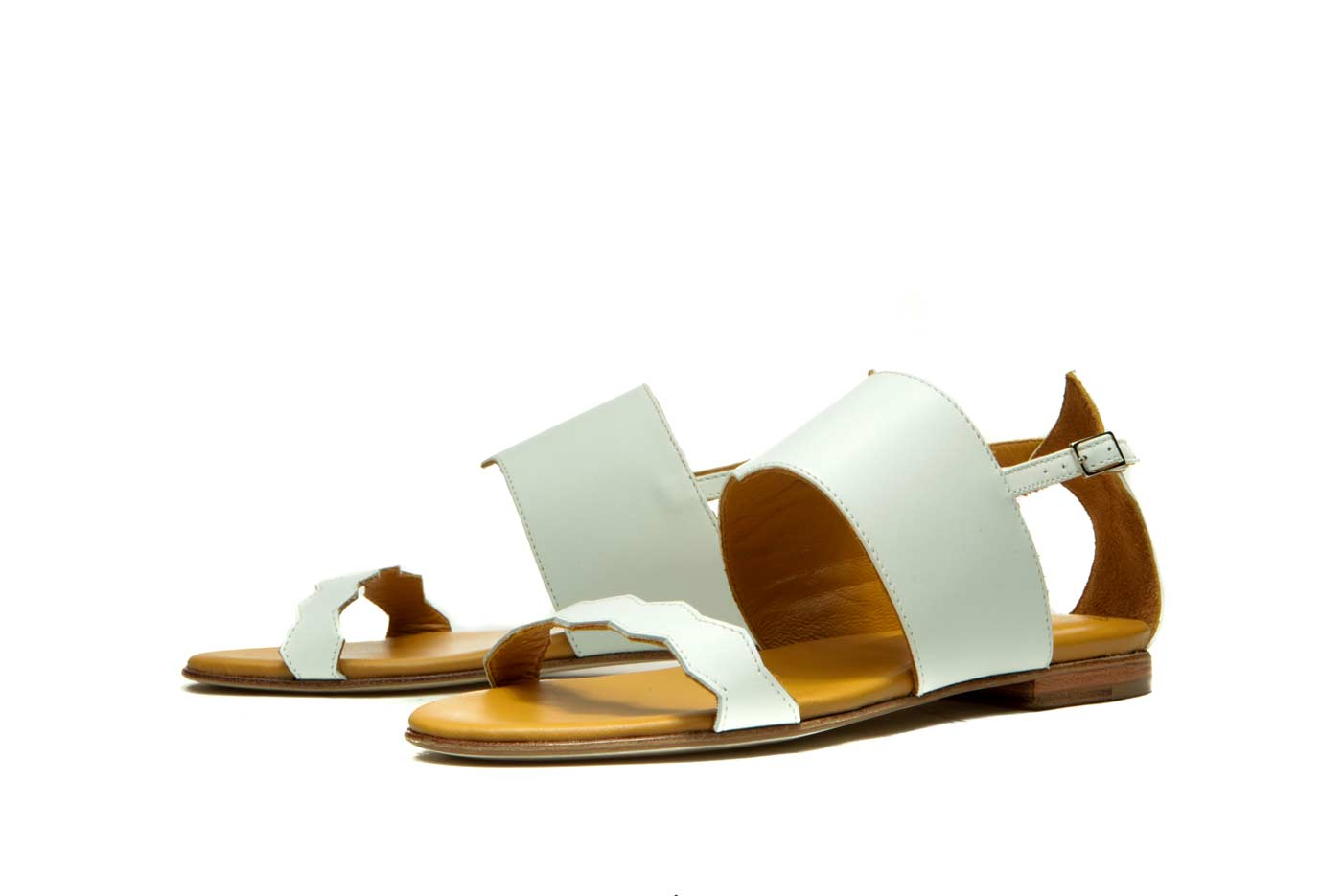 White ancient greek sandals | Handmade