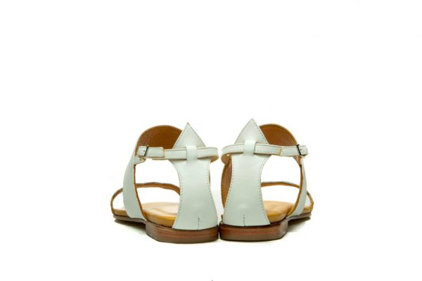 Womens Shoes Flat White Strappy Sandals