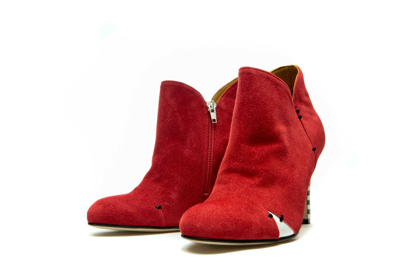 womens leather heeled ankle boots