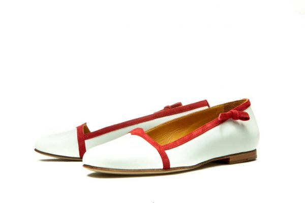 Womens Shoes White Ballet Flats