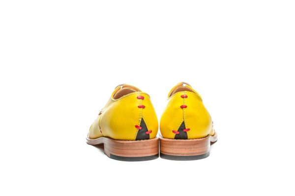 Womens Shoes Yellow Open Lacing Derby Shoes