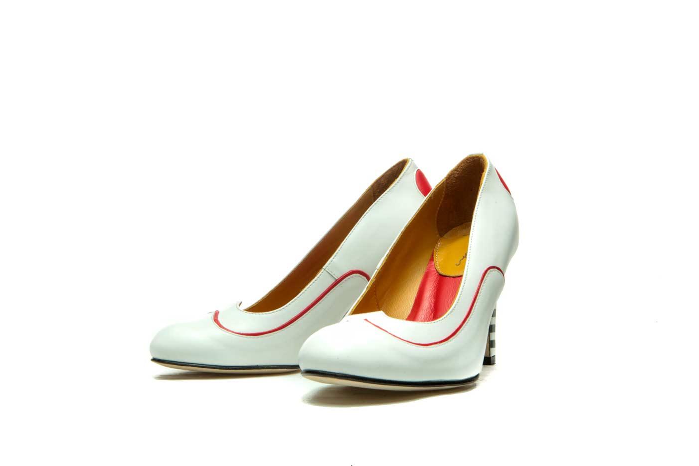 White high heels | Milenika shoes