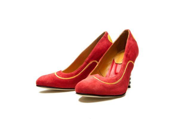 Handmade Womens Shoes Heart Shape Red High Heel Pumps