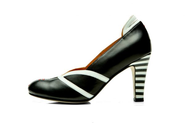 Handmade Womens Shoes High Heel Black Pumps