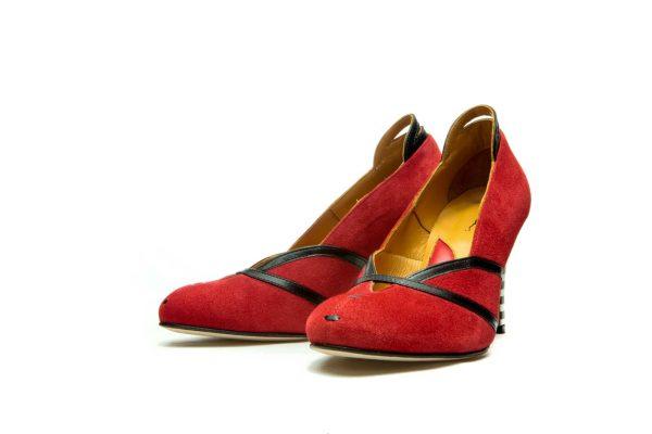 Handmade Womens Shoes High Heel Red Pumps