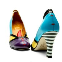 Colorblock shoes   Handmade Milenika