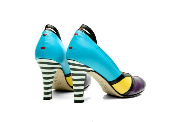 Handmade Womens Shoes High Heel Multicolor Pumps