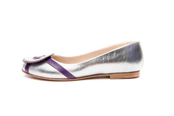 Womens Shoes Silver Ballet Flats