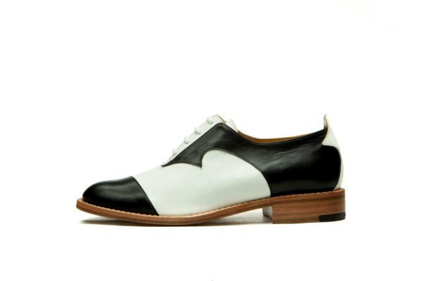 Womens Shoes Black And White Different Oxford Shoes