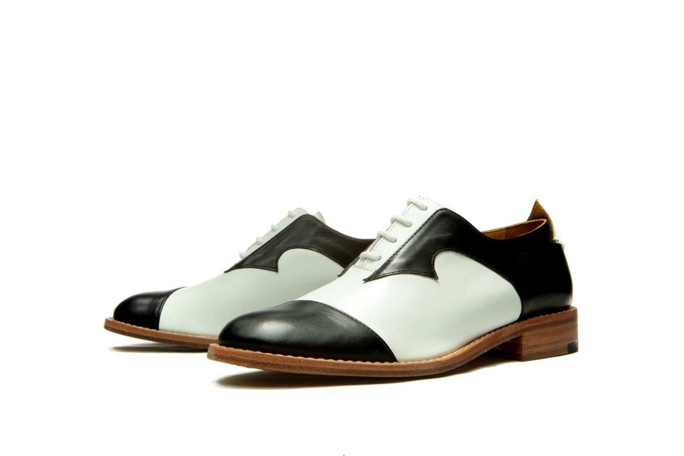 Black and white womens oxford shoes