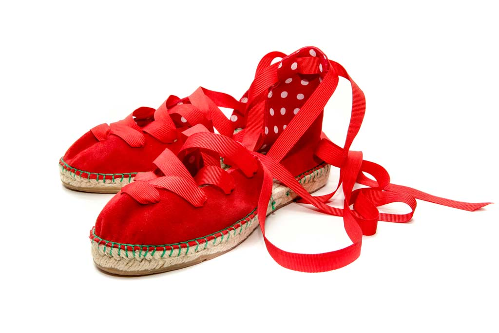 Designer espadrilles | Red handmade