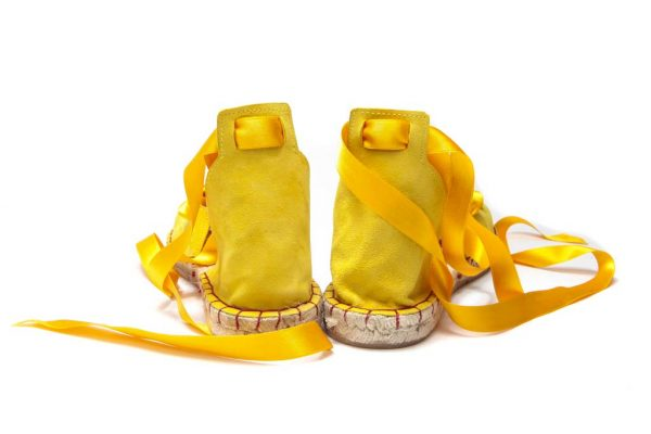 Womens Shoes Flat Lace Up Yellow Espadrilles