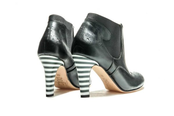Womens Shoes High Heel Black Chelsea Ankle Boots