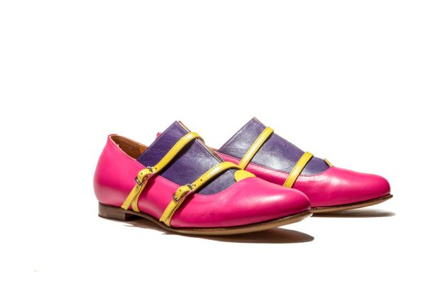 Womens Shoes Pink Monk Shoes Pink Ballet Flats