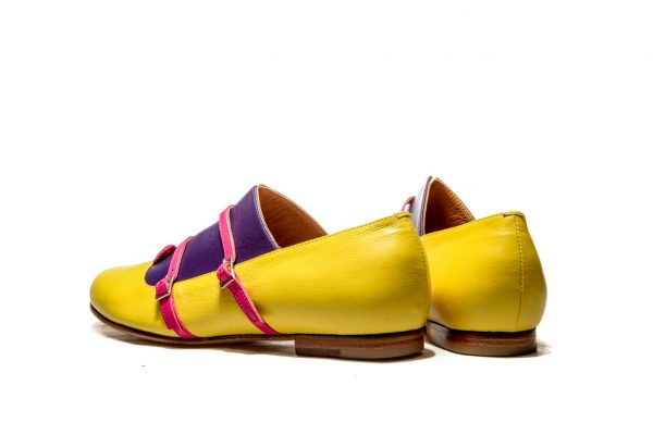 Womens Shoes Yellow Monk Shoes Yellow Ballet Flats