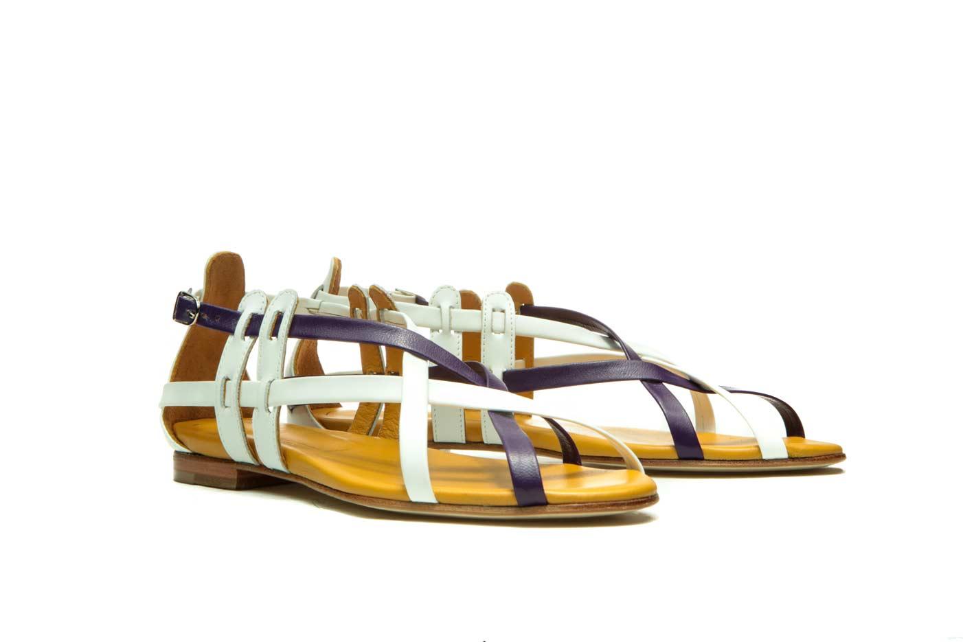 Purple handmade leather sandals