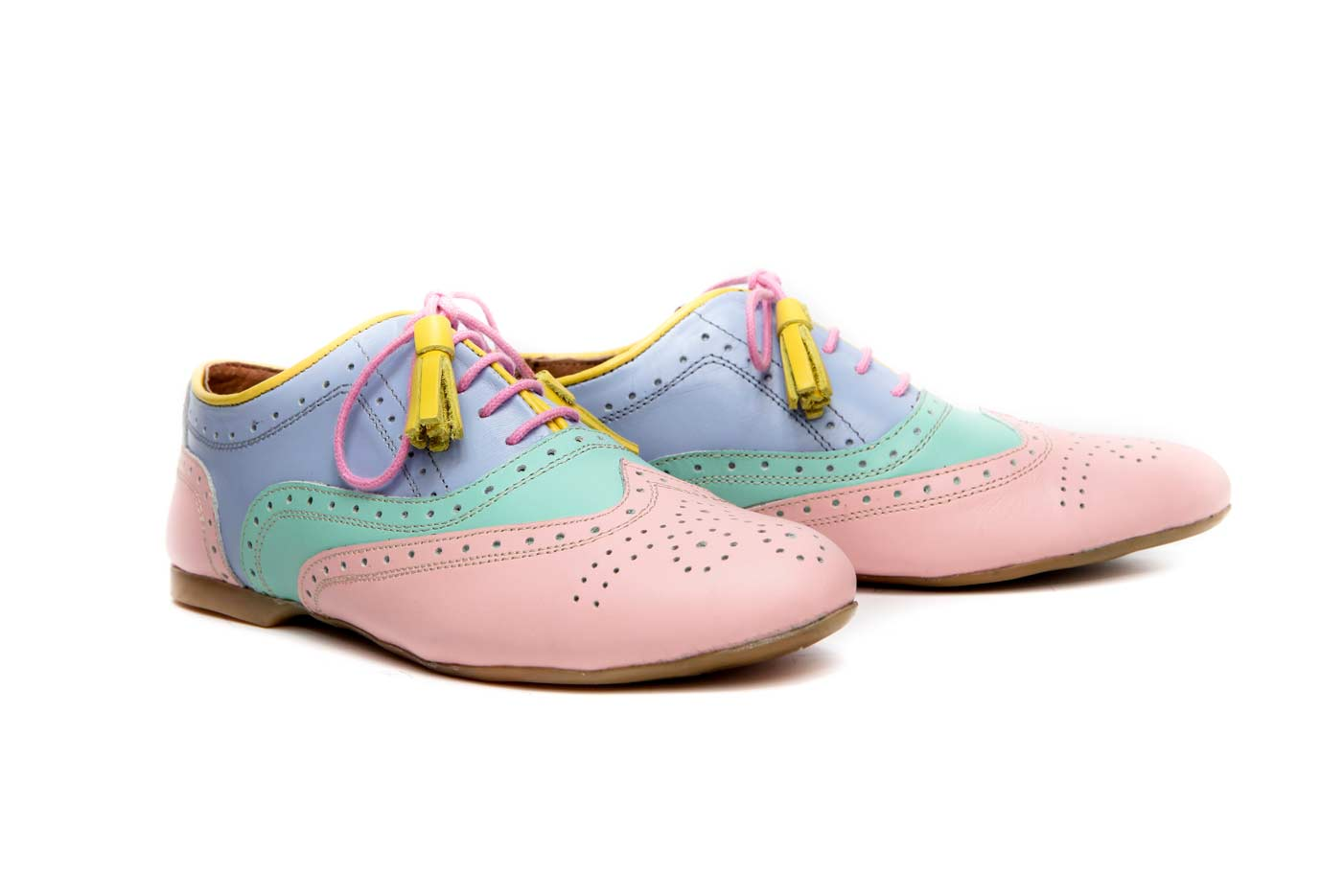 Pastel womens oxford shoes | Flats