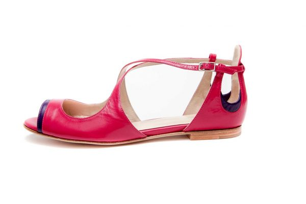 Womens Shoes Flat Pink Sandals