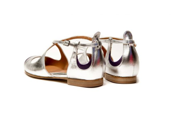 Womens Shoes Flat Silver Sandals