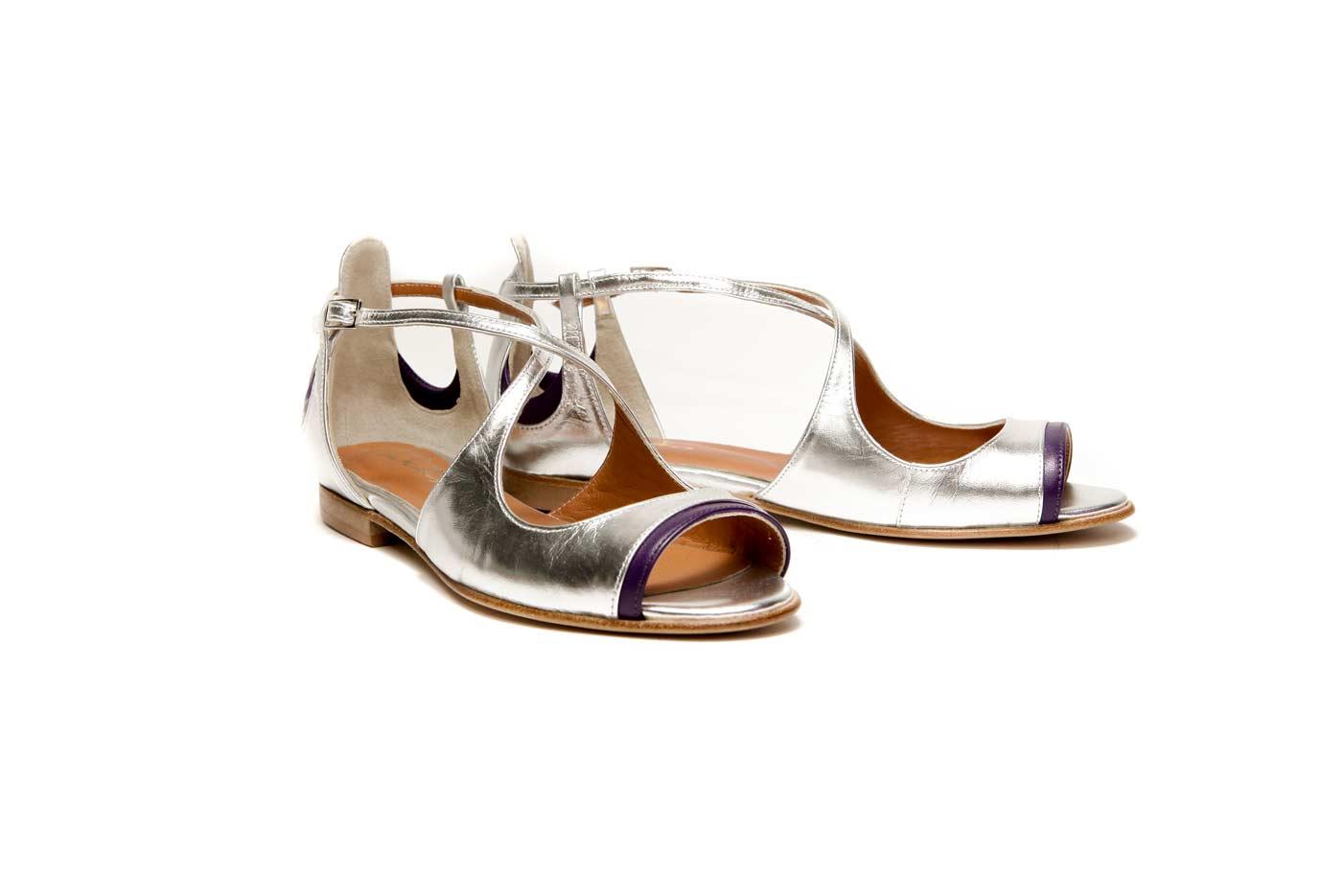Silver flat sandals | Official online