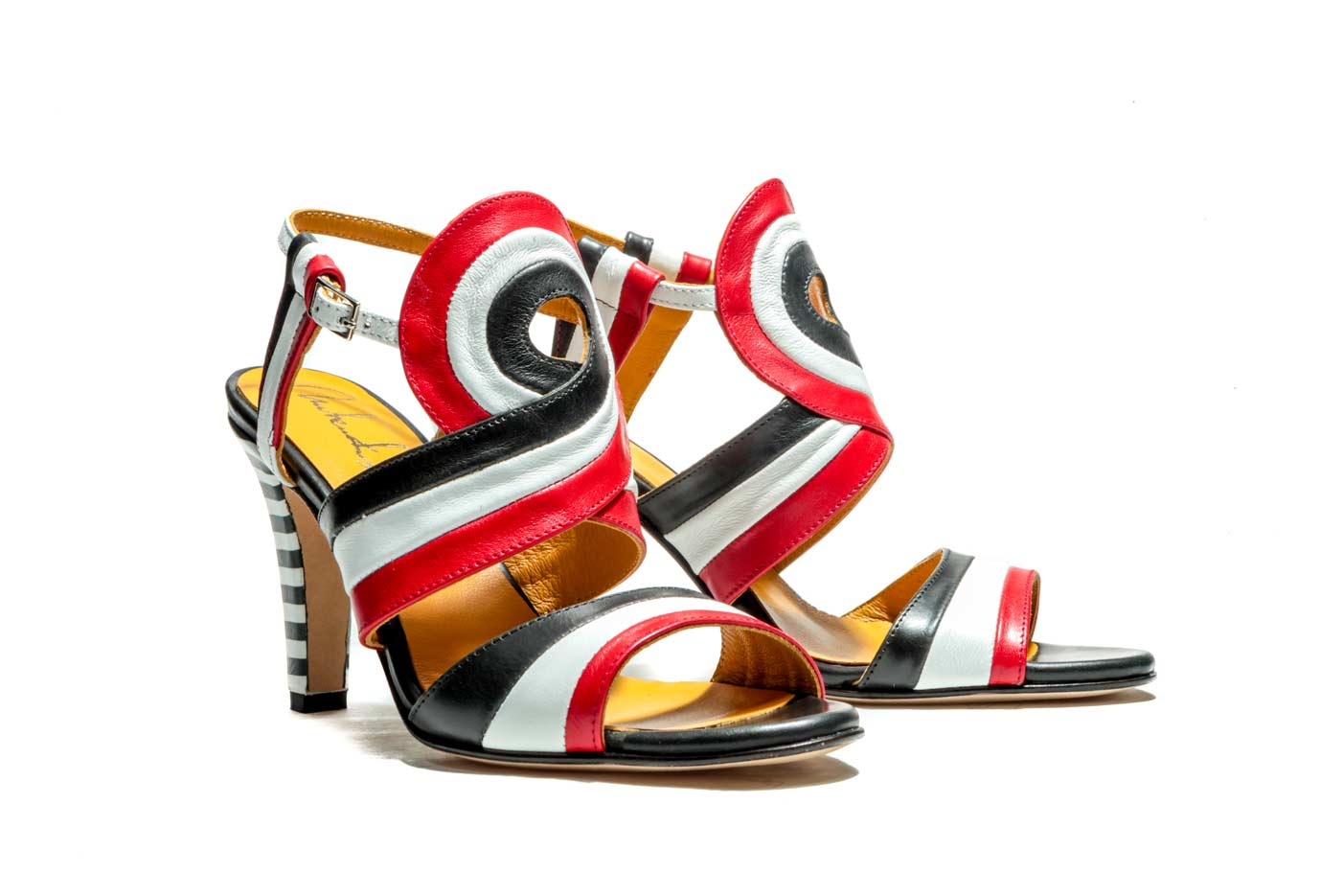 red high sandal heels