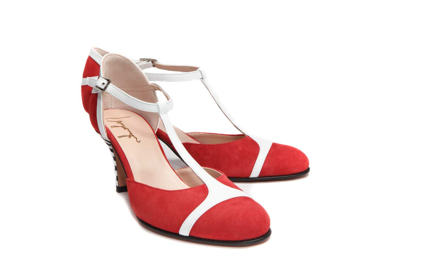 Red kitten heel pumps | Official