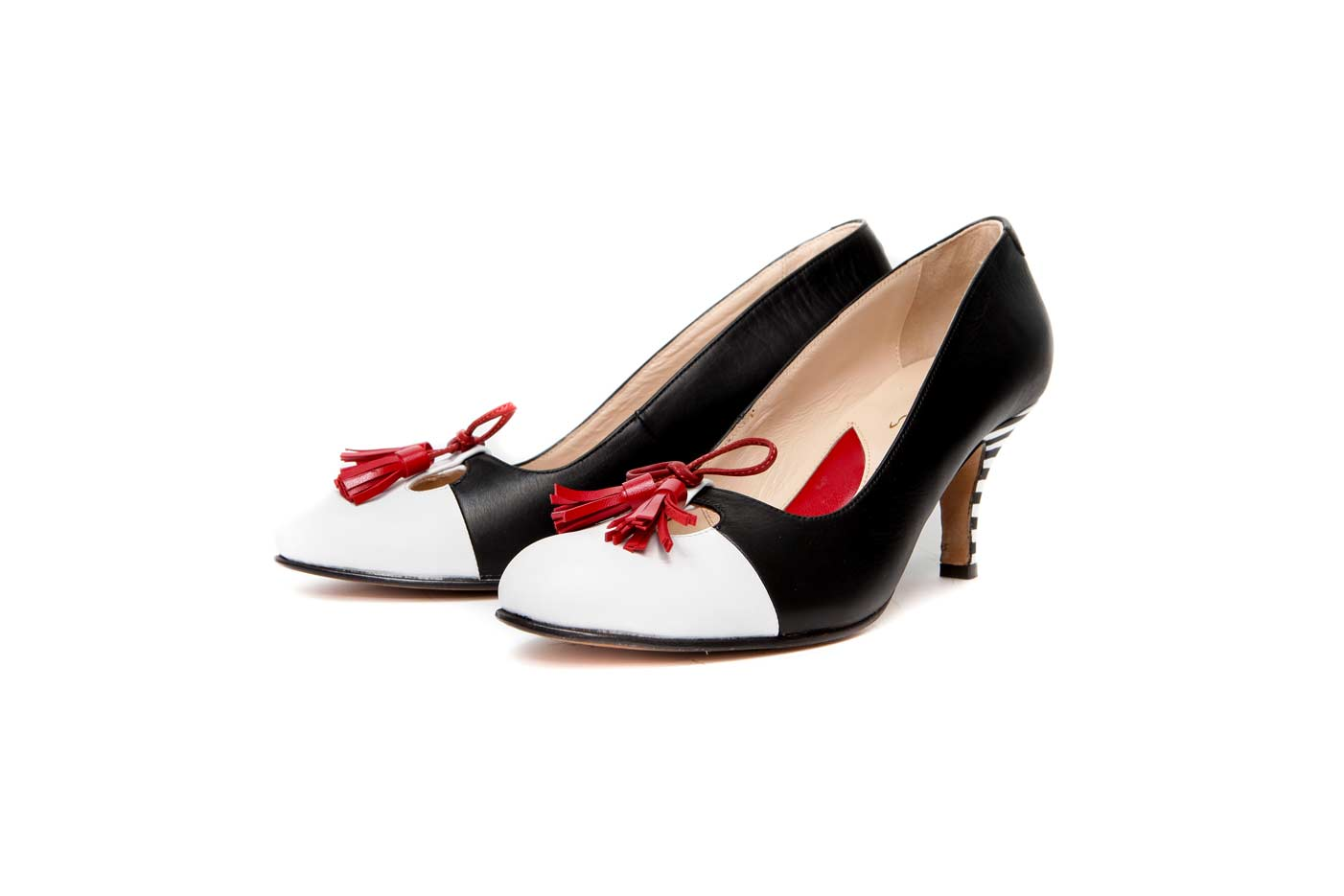 Black kitten heels | Handmade designer