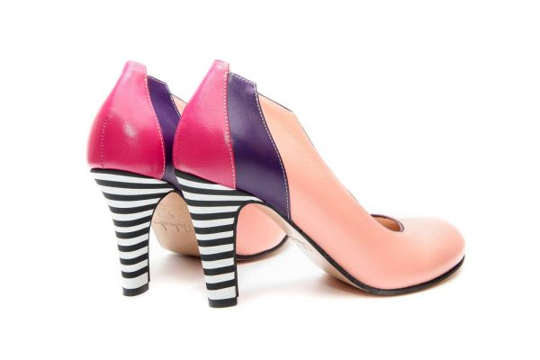 Handmade Womens Shoes Coral Pink High Heel Pumps