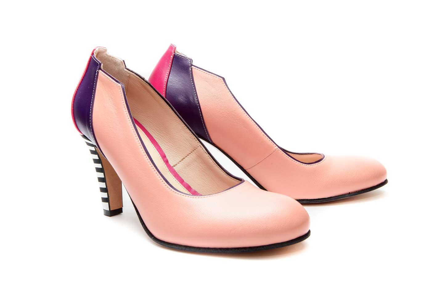 high heel coral shoes