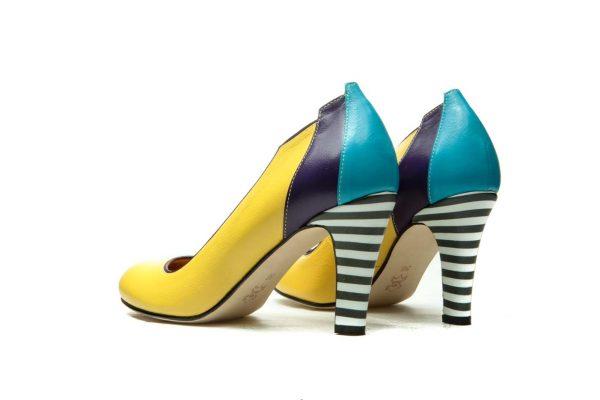 Handmade Womens Shoes Yellow High Heel Pumps