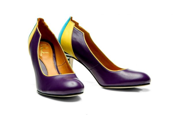 Handmade Womens Shoes Purple High Heel Pumps