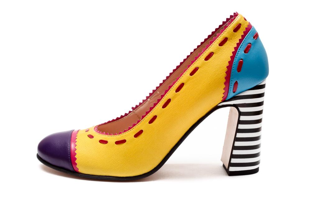 Yellow color block heels | Official