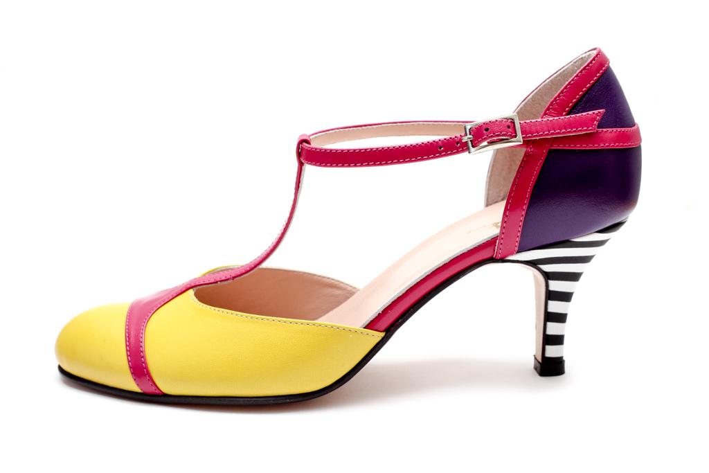 Color block pumps   Unique heels in